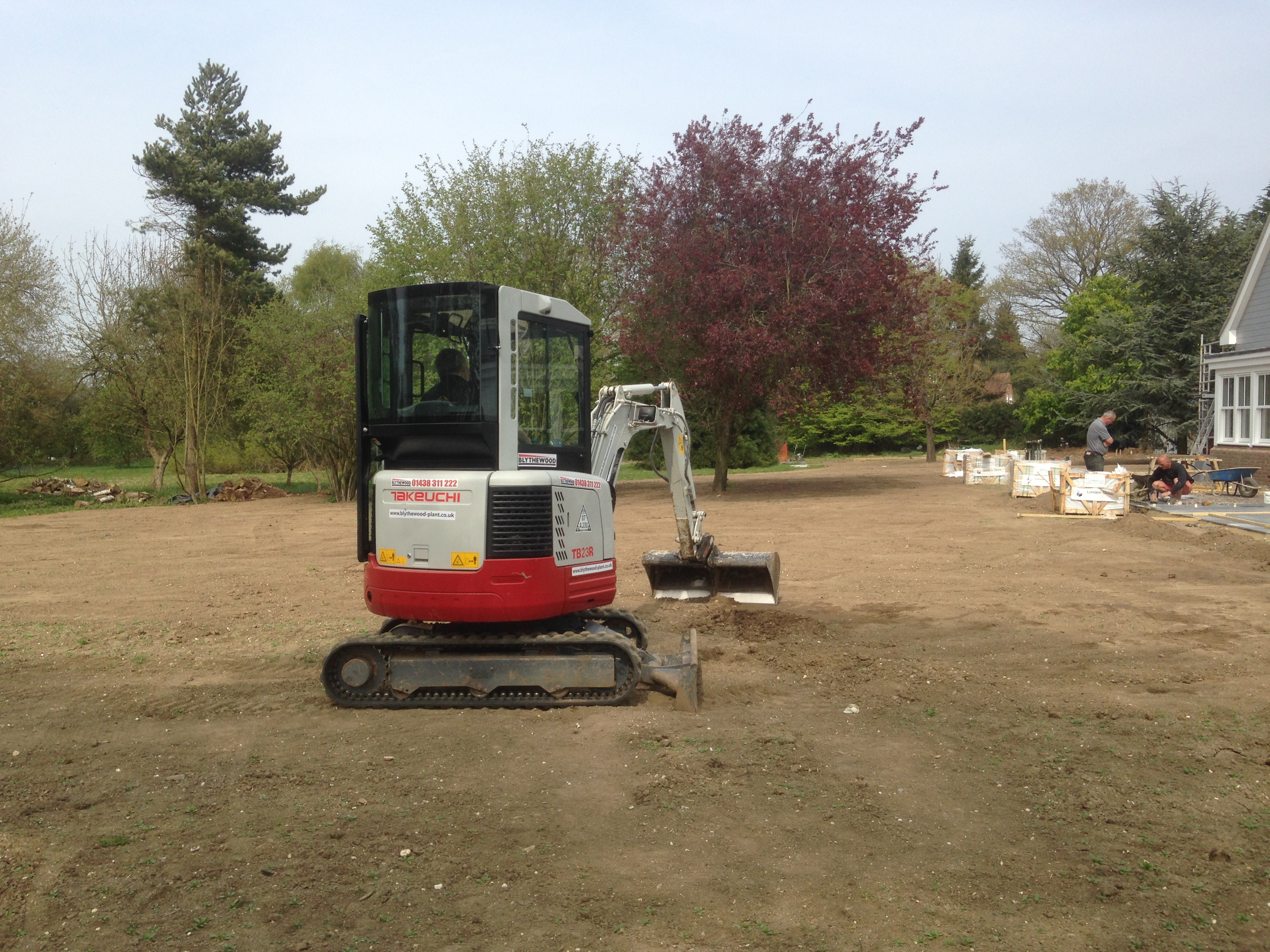 new build lawn installation turfing development site