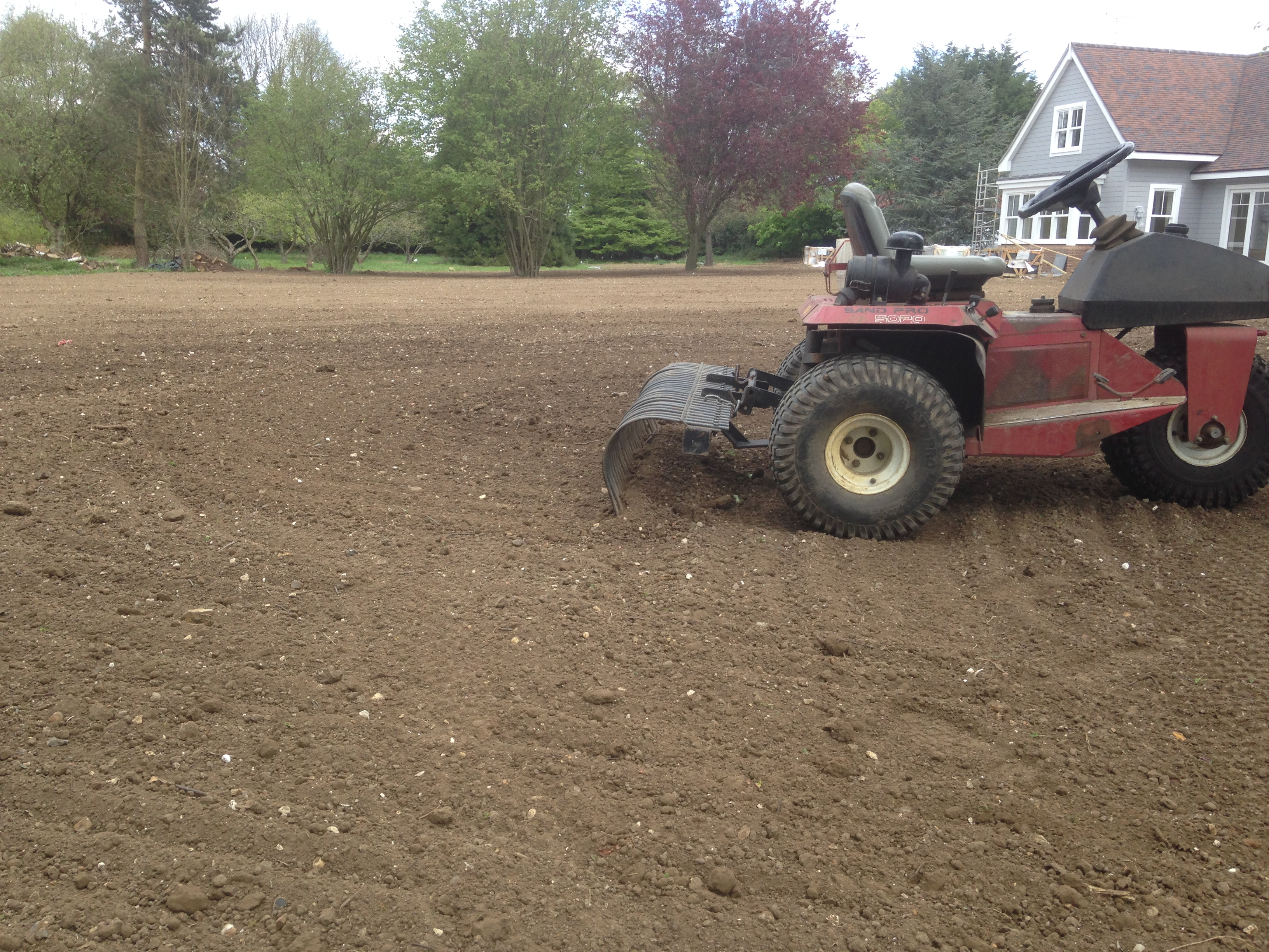 Hertfordshire New Build Lawn Installation - Turfing Services