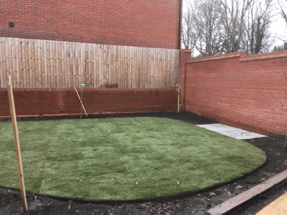 Ground treatment and lay lawn for new family home.