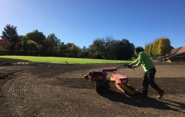 soil type lawn installed after groundworks and building works